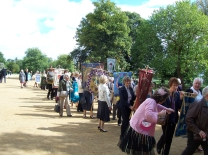 Congregating at Christ Church Meadow
