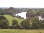 """""""The"""" view from Richmond Hill, looking back at Ham House."""