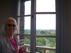 Gill looking at the view from the top of the Great Pagoda