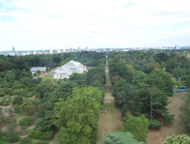 View over Kew Gardens from the top of the Pagoda